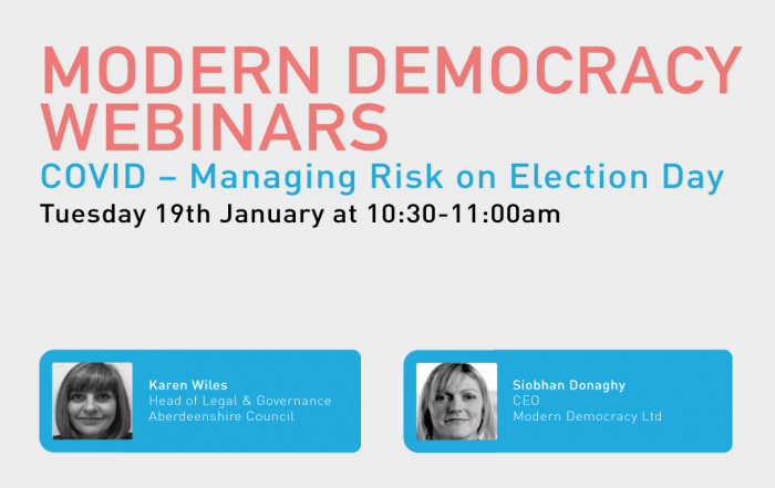 Modern Democracy Webinars